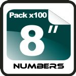 "8"" Race Numbers - 100 pack"
